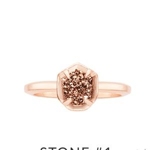 Rose gold Calvin ring from Kendra Scott